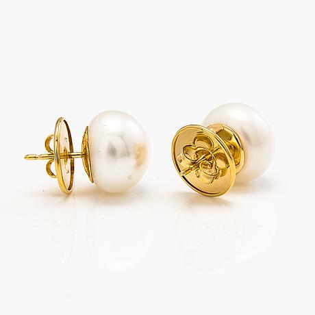 Jaana lehtinen, ÖrhÄngen, 18k guld, odlade pärlor.
