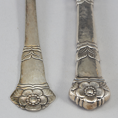 93 psc silver cutlery, some mark of gösta f nyqvist, falköping 1932.