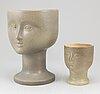 Two stoneware vases by lisa larson, gustavsberg.