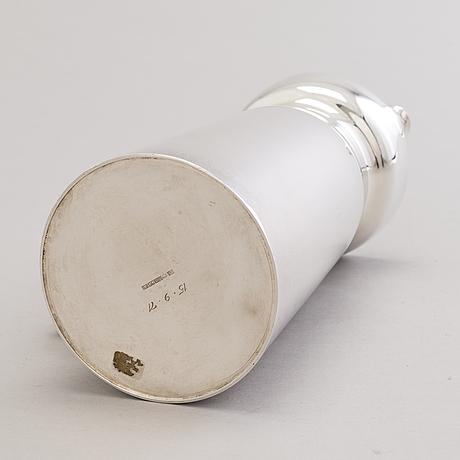 A 1960s silver jug with hardwood handle, kultateollisuus, turku finland 1968.