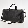 Christian dior black monogram coated canvas duffel bag.