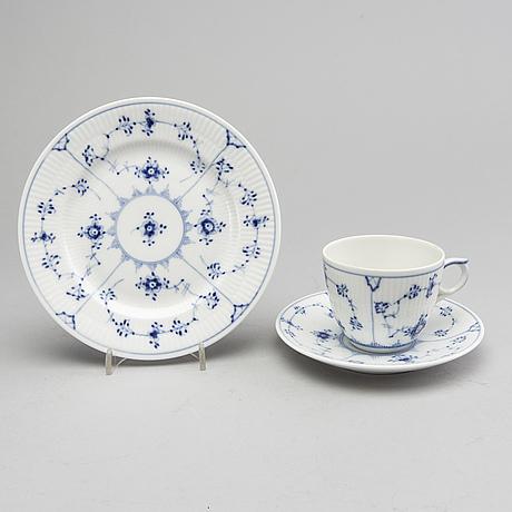"""Royal copenhagen, musselmalet """"rifflet"""", denmark, porcelain."""