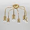 Josef frank, a brass ceiling light, firma svenskt tenn, 2356.