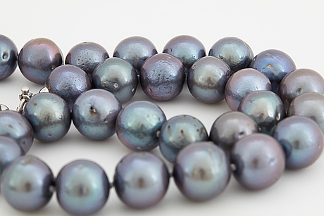 A cultured freshwater pearl necklace.
