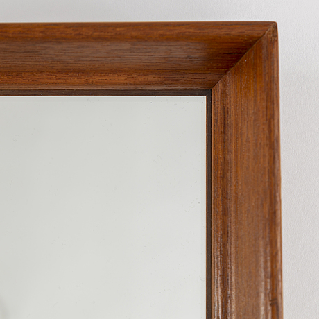 A teak framed mirror from glas-mäster, 1950's.