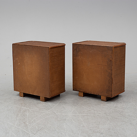 A pair of bedside tables, late 20th century.
