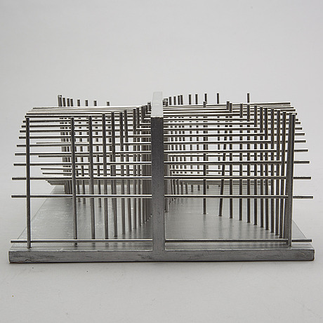 Bertil herlow svensson, sculpture in wood and aluminium.