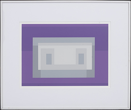 Josef albers, serigraphy, not signed, 1972.