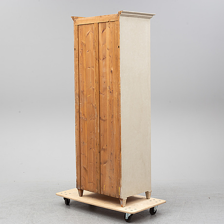 A late 19th century painted wardrobe.