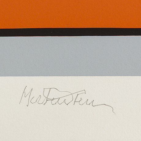 Richard mortensen, silkscreen in colours, signed and numbered 30/150.