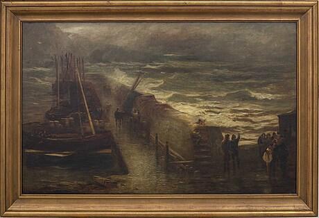 William fleming vallance, olja på duk, signerad rsa.