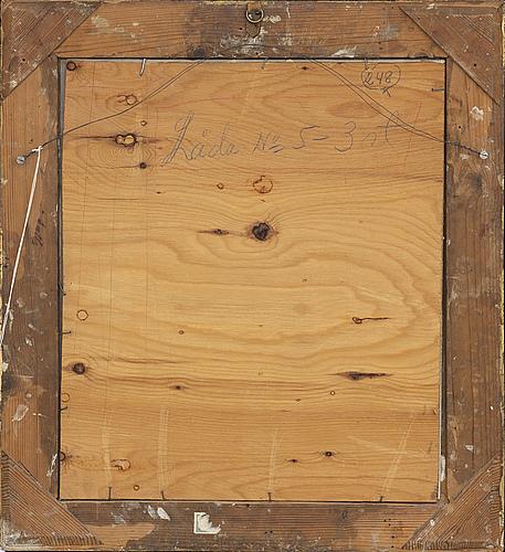 Leander engstrÖm, akvarell och blyerts, signerad abisko sept 1925.