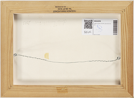 Linn fernstrÖm, mixed media signed and dated 2003 on verso.
