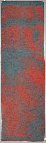"""A runner, """"häggå"""" maskinvävd, gunilla lagerhem ullberg, ca 435 x 133 cm."""