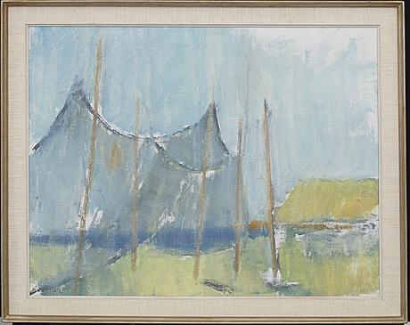 Gustav rudberg, oil on canvas, signed.