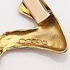 Helky juvonen, a 14k gold necklace. westerback, helsinki 1972.