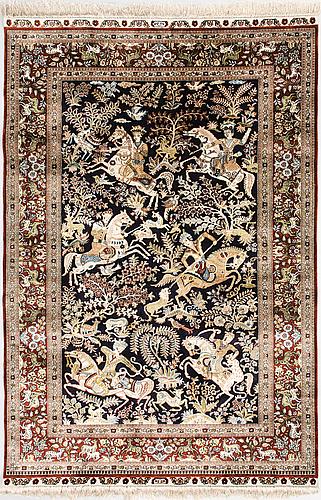 Matta, orientalisk, silke. ca 185x125 cm.