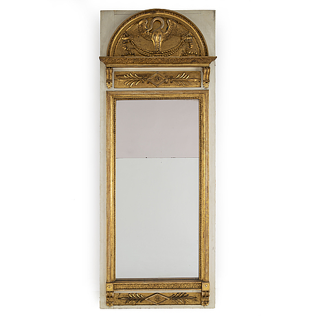 A late gustavian mirror, first half of the 19th century.