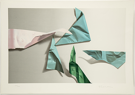 YrjÖ edelmann, lithograph in colors, signed y. edelmann and numbered 238/250 in pencil.