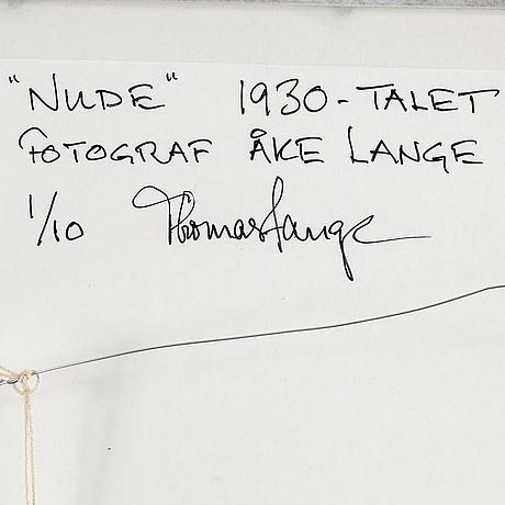 Åke lange, after, c-print, signed and numbered 1/10.