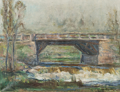 Mikko oinonen, oil on canvas, signed and dated 1941.