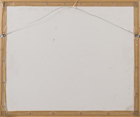 Olli joki, oil on paper, signed.