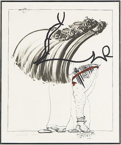 Carl fredrik reuterswÄrd, litografier, 2 st, signerade och numrerade 126/200.