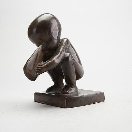 Lisa larson, a signed bronze sculpture.