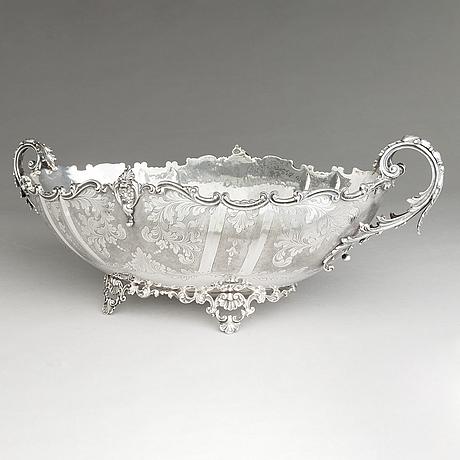 An italian silver centrepiece bowl, mazzucato, agma, milano, mid-20th century.