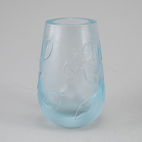 Sven palmqvist, a glass vase 'florida', orreford.