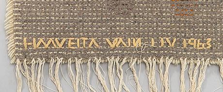 Laura korpikaivo-tamminen, a finnish long pile ryijy rug. circa 151 x 115 cm. design 1956.