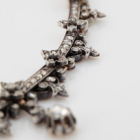 A 19th century diamond necklace.