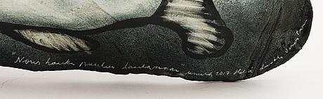 HeljÄ liukko-sundstrÖm, uniikki reliefi, signeerattu heljä liukko- sundström 2017.