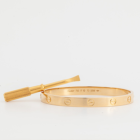 "A cartier ""love"" bracelet."