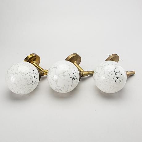 VÄgglampor 3 st sent 1900-tal.