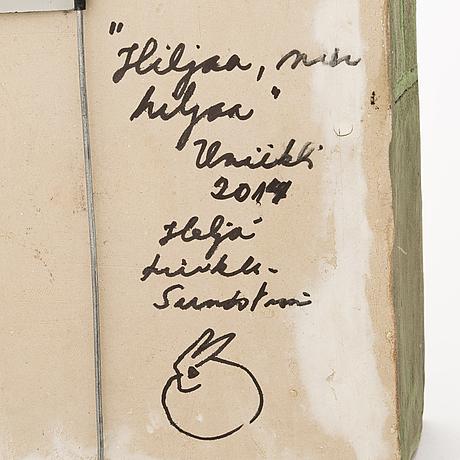 HeljÄ liukko-sundstrÖm, a unique sconce, signed heljä liukko-sundström 2014.