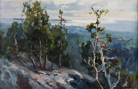 Ina sjöström, oil on canvas, not signed.