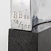 Barbro bÄckstrÖm, aluminium sculpture, signed bb, dated -66, numbered 18/100.