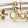 An 18k gold and white gold bracelet.