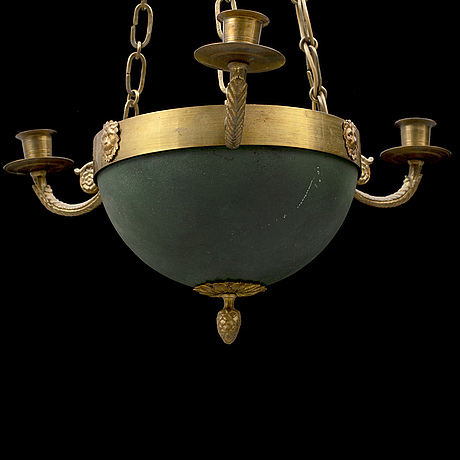 An early 20th century ceiling light.