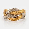 An 18k gold and white gold ring.