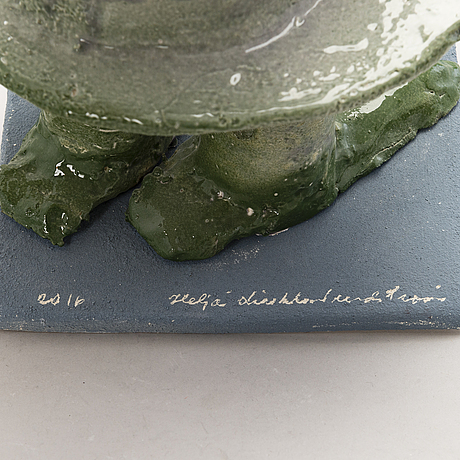HeljÄ liukko-sundstrÖm, a unique sculpture, signed heljä liukko-sundström 2011.