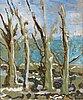 Eero von boehm, oil on wood, signed.