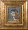 Nikolai lehto, oil on wood, signed and dated -62.