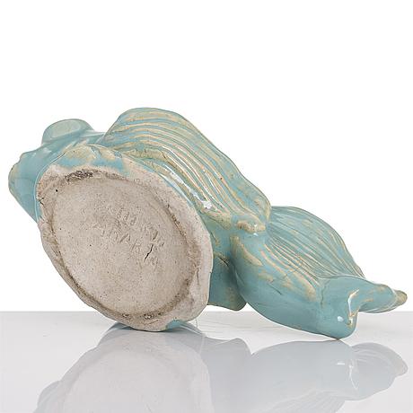 Michael schilkin, a stoneware sculpture signed schilkin arabia.