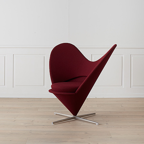 "A ""heart cone chair"" by verner panton, vitra."