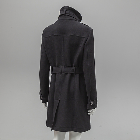 Burberry, a wool coat, size 42.