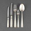 Jacob Ängman, 58 psc silver cutlery, 'rosenholm', gab, some stockholm 1950's-60's.