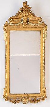 A Swedish gustavian mirror, late 18th century.