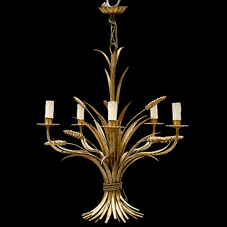 An italian ceiling light, second half of the 20th century.